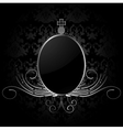 Royal background with silver frame vector image