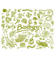 scientific laboratory in biology icon set of vector image vector image