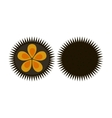 Sea urchin flat icon logo aquatic natural food vector image vector image