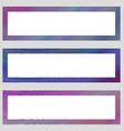 Set of colorful design banner frames vector image vector image