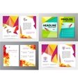 set of document letter or logo style cover vector image vector image