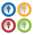 set of four icons - ice cream vector image