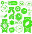 set of natural signs vector image vector image