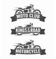 set vintage motorcycle labels badges and logos vector image