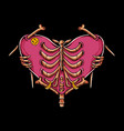 skull love vector image vector image