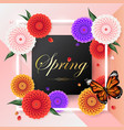 spring background beautiful colorful dahlia flower vector image vector image