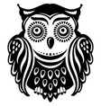 stylized decorated owl vector image vector image