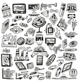 technology devices doodles - icons vector image vector image
