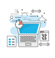 technology information programming system code vector image