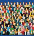 the crowd of abstract people vector image vector image