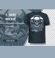 three skulls and tattoo machines fully editable vector image vector image