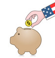 united states economy and savings vector image vector image