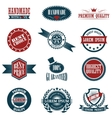 Vintage labels set design elements vector image vector image