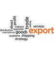 word cloud export vector image vector image