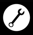 wrench icon design vector image vector image