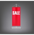 Sale banner Red advertising stand vector image