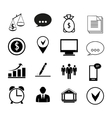 Human resources and management business icons set vector image