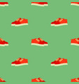 sport red shoes seamless pattern vector image