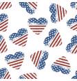 american flag grunge symbol on white background vector image vector image