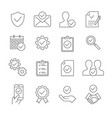 approve line icons on white background editable vector image