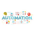 automation word vector image