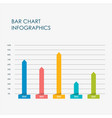 bar chart infographics elements 3d flat design vector image vector image