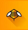 bee hexagon logo