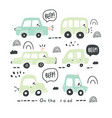 big set of different hand drawn toy cars vector image