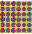 Blue Red Flowers Pattern vector image vector image