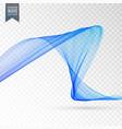 blue wave transparent effect background vector image vector image