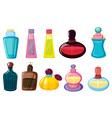 Bottles of perfume vector image