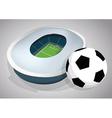Brazil soccer stadium vector image vector image