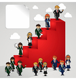 Business leadership cartoon people vector image