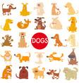 cartoon dog characters large set vector image