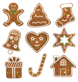 Christmas Cookies Collection vector image vector image