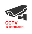 closed circuit television sign cctv in operation vector image vector image