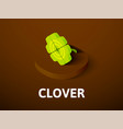 clover isometric icon isolated on color vector image