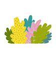 colorful bush cartoon vector image vector image