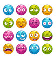 colorful cartoon comic faces with different vector image vector image