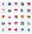 Colorful support and care icons vector image vector image