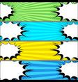 comic duel horizontal banners vector image vector image