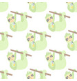 cute seamless pattern with sloth childish texture vector image vector image