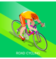 Cycling Road 2016 Summer Games 3D Isometric vector image
