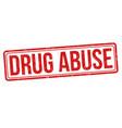 drug abuse sign or stamp vector image vector image