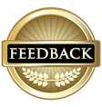 Feedback Gold Label vector image vector image