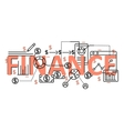 Finance concept flat line design with icons and vector image vector image