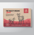 fine quality organic goat meat packaging vector image vector image