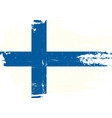 finnish scratched flag vector image vector image