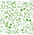 Floral seamless pattern with green garden plants vector image vector image
