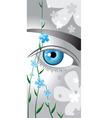 flower eyes vector image